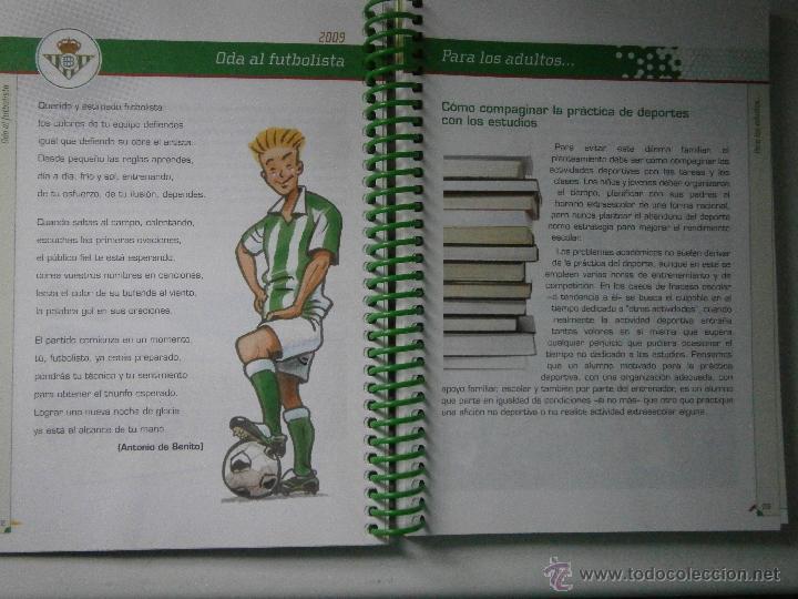 Coleccionismo deportivo: BETIS Agenda de Betic@s 2009 Beticos Ilustraciones Cristobal Rodriguez Leiva - Foto 6 - 41534154
