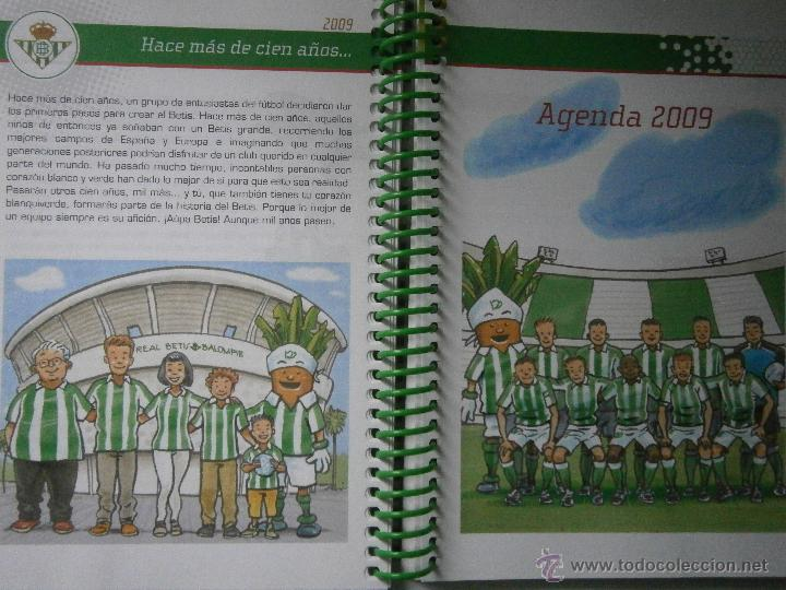 Coleccionismo deportivo: BETIS Agenda de Betic@s 2009 Beticos Ilustraciones Cristobal Rodriguez Leiva - Foto 9 - 41534154