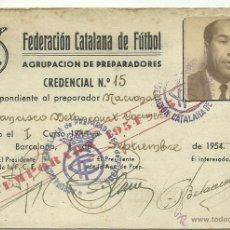 Coleccionismo deportivo: (F-893)CARNET DE ENTRENADOR DE FCO.BETANCOURT,EX-JUGADOR DEL C.F.BARCELONA. Lote 41581779