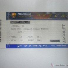 Coleccionismo deportivo: ENTRADA BALONCESTO F.C. BARCELONA - BIZKAIA BILBAO BASKET - LIGA ACB - TEMPORADA 2010/2011. Lote 41598138