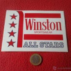 Coleccionismo deportivo: PEGATINA ADHESIVO TABACO TABACOS CIGARRILLOS WINSTON SPORTSWEAR ALL STARS DEPORTES. Lote 41614345
