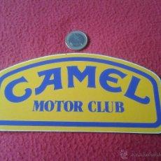 Coleccionismo deportivo: PEGATINA ADHESIVO TABACO TABACOS CIGARRILLOS CAMEL MOTOR CLUB DEPORTES . Lote 41614427