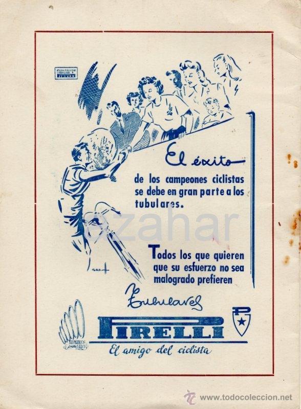 Coleccionismo deportivo: PROGRAMA DE LA IV VUELTA CICLISTA A LA PROVINCIA DE ZAMORA,1949, RARO - Foto 3 - 41663238