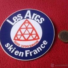 Coleccionismo deportivo: PEGATINA ADHESIVO LES ARCS SKI EN FRANCE SAVOIE ESQUIAR DEPORTES. Lote 41875804