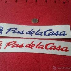Coleccionismo deportivo: LOTE DE 2 PEGATINAS ADHESIVOS SKI PAS DE LA CASA DEPORTES. Lote 41900181