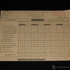 Coleccionismo deportivo: BOLETO DE LA QUINIELA JORNADA 22 DEL 2/2/75 SIN USAR. Lote 51534532