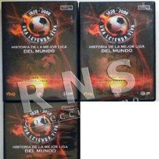 Coleccionismo deportivo: LOTE HISTORIA DE LA MEJOR LIGA DEL MUNDO 4 5 6 FÚTBOL DEPORTE ESPAÑA MARCA DVD ZARAGOZA REAL MADRID. Lote 42144721