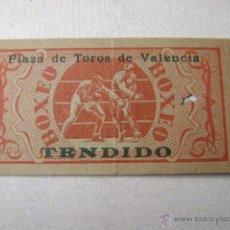 Coleccionismo deportivo: ENTRADA DE BOXEO.PLAZA DE TOROS DE VALENCIA 1948.47023. Lote 42156072