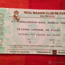 Coleccionismo deportivo: R650 ENTRADA TICKET BALONCESTO REAL MADRID FUENLABRADA. Lote 42317278