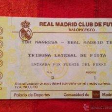 Coleccionismo deportivo: R649 ENTRADA TICKET BALONCESTO REAL MADRID TDK MANRESA. Lote 42317282