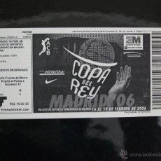 Coleccionismo deportivo: ACB. COPA DEL REY MADRID 2006. Lote 42337680