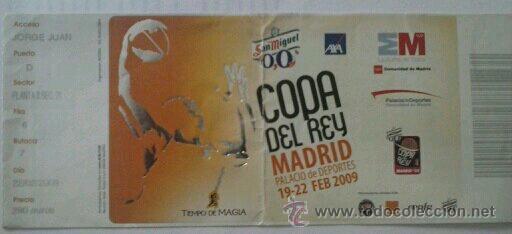 ENTRADA ABONO COPA DEL REY DE BALONCESTO EN MADRID 2009 (Coleccionismo Deportivo - Documentos de Deportes - Otros)
