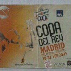 Coleccionismo deportivo: ENTRADA ABONO COPA DEL REY DE BALONCESTO EN MADRID 2009. Lote 42395426