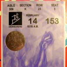 Coleccionismo deportivo: ENTRADA JUEGOS OLIMPICOS SALT LAKE CITY 2002 OLIMPIADA. Lote 42424754
