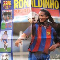 Coleccionismo deportivo: POSTER GIGANTE RONALDINHO (FC BARCELONA) - PRESENTACION AÑO 2003 - DIARIO SPORT. Lote 42519101