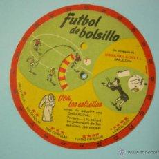 Coleccionismo deportivo: FUTBOL DE BOLSILLO, MODO DE JUGAR INSTRUCCIONES - DISCO DE CARTON - MANUFACTURAS ALCIDES, BARCELONA. Lote 42520631