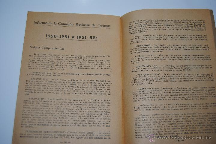 Coleccionismo deportivo: MEMORIA Y BALANCES GENERALES C.F.BARCELONA 1950-1951(62 PAGINAS) - Foto 5 - 42574371