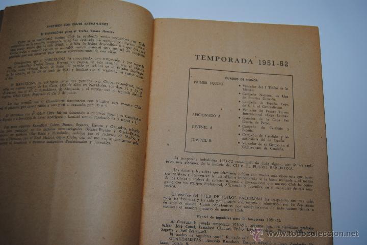 Coleccionismo deportivo: MEMORIA Y BALANCES GENERALES C.F.BARCELONA 1950-1951(62 PAGINAS) - Foto 6 - 42574371