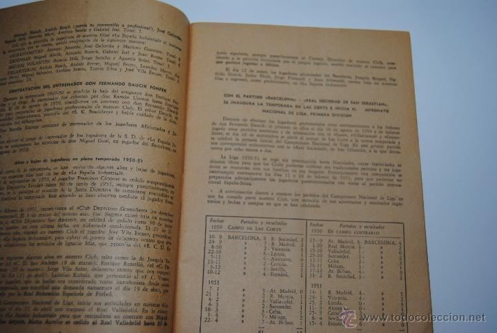 Coleccionismo deportivo: MEMORIA Y BALANCES GENERALES C.F.BARCELONA 1950-1951(62 PAGINAS) - Foto 9 - 42574371