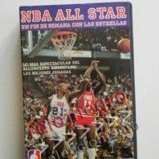 Coleccionismo deportivo: NBA ALL STAR UN FIN DE SEMANA CON LAS ESTRELLAS BALONCESTO EEUU DEPORTE BASKET 80 MAGIC JOHNSON VHS. Lote 42698157