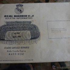 Coleccionismo deportivo: SOBRE ORIGINAL DEL BOLETIN INFORMATIVO DEL REAL MADRID AÑOS 70.. Lote 42936732