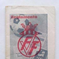 Coleccionismo deportivo: REGLAMENTO DE BOLSILLO, FEDERACION VALENCIANA DE FUTBOL, CERVEZAS TURIA, 1970. Lote 43160070