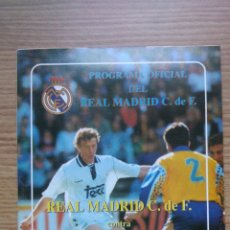 Coleccionismo deportivo: PROGRAMA OFICIAL DEL REAL MADRID CONTRA REAL SOCIEDAD TEMPORADA 1993/94. Lote 43295399