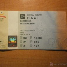 Coleccionismo deportivo: ENTRADA OIMPIADAS BARCELONA 92 ESTADIO OLIMPIC. FINAL ATLETISMO. Lote 43369069
