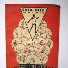 Coleccionismo deportivo: FOLLETO PUBLICITARIO CADA DÍEZ DE MADRID. ARTÍCULOS PARA GIMNASIA Y DEPORTES. AÑOS 40 O ANTERIOR. Lote 43369610