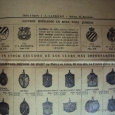 Coleccionismo deportivo: (F-558)CATALOGO SECCION DE SPORTS,A.SANROMA,AGOSTO 1926,FOOT-BALL,BOXEO,ATLETISMO,ETC.. Lote 43436018