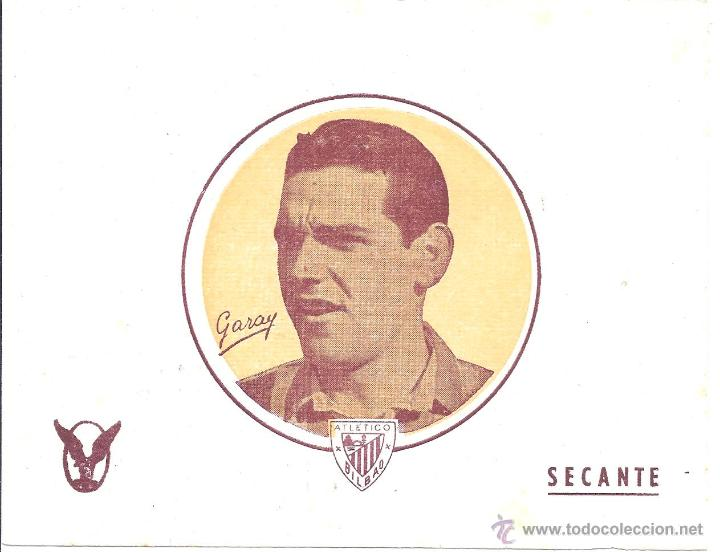 LOTE DE 16 PAPELES SECANTES - GARAY - ATLÉTICO BILBAO - 15,7 * 12,4 CM - AÑOS 50 (Coleccionismo Deportivo - Documentos de Deportes - Otros)