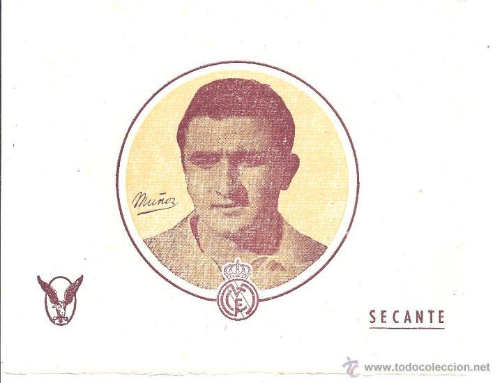LOTE DE 20 PAPELES SECANTES - MUÑOZ - REAL MADRID - 15,7 * 12,4 CM - AÑOS 50 (Coleccionismo Deportivo - Documentos de Deportes - Otros)