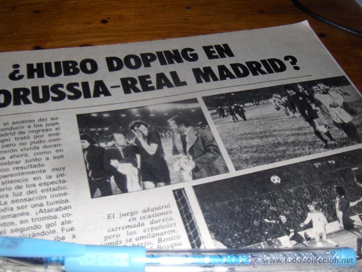 Coleccionismo deportivo: REPORTAJE GRAFICO, TRAS LA SEPTIMA COPA DE EUROPA EL REAL MADRID LANZADO. 9 PAGINAS. - Foto 4 - 43555624