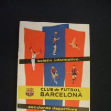 Coleccionismo deportivo: BOLETIN INFORMATIVO C.F. BARCELONA - SECCIONES DEPORTIVAS - AÑO I - Nº 3 - DIC. 1958 -. Lote 43584296