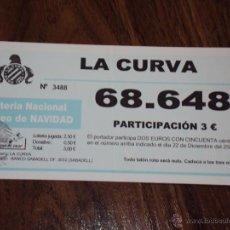 Coleccionismo deportivo: LA CURVA. PARTICIPACION. . Lote 43589845