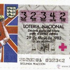 Coleccionismo deportivo: LOTE DE 25 BILLETES DE LOTERIA NACIONAL - MUNDIALES DE FUTBOL 1982.. Lote 43680466