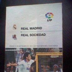 Coleccionismo deportivo: PROGRAMA MANO PARTIDO REAL MADRID REAL SOCIEDAD SEPTIEMBRE 1997. Lote 43751695