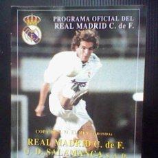 Coleccionismo deportivo: PROGRAMA MANO PARTIDO REAL MADRID SALAMANCA COPA REY 96 97. Lote 43752924