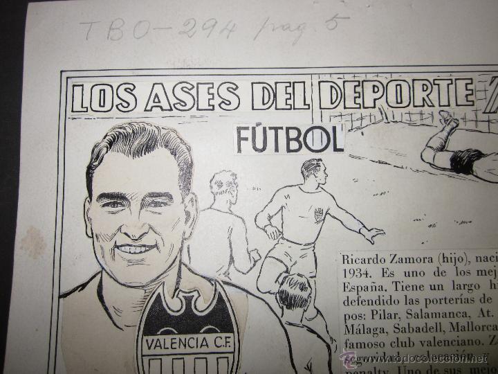 Coleccionismo deportivo: RICARDO ZAMORA HIJO -DIBUJO ORIGINAL AÑOS 60 CON REVERSO ILUMINADO COLOR- VER FOTOS TAMAÑO- (V-759) - Foto 2 - 43773038