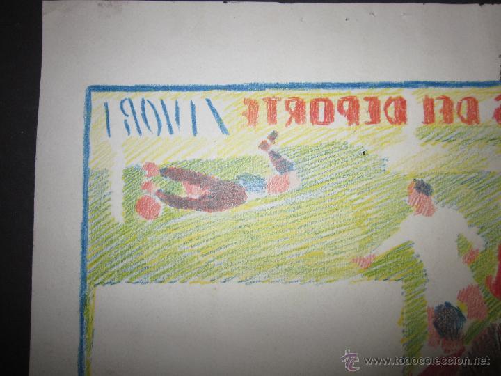 Coleccionismo deportivo: RICARDO ZAMORA HIJO -DIBUJO ORIGINAL AÑOS 60 CON REVERSO ILUMINADO COLOR- VER FOTOS TAMAÑO- (V-759) - Foto 7 - 43773038