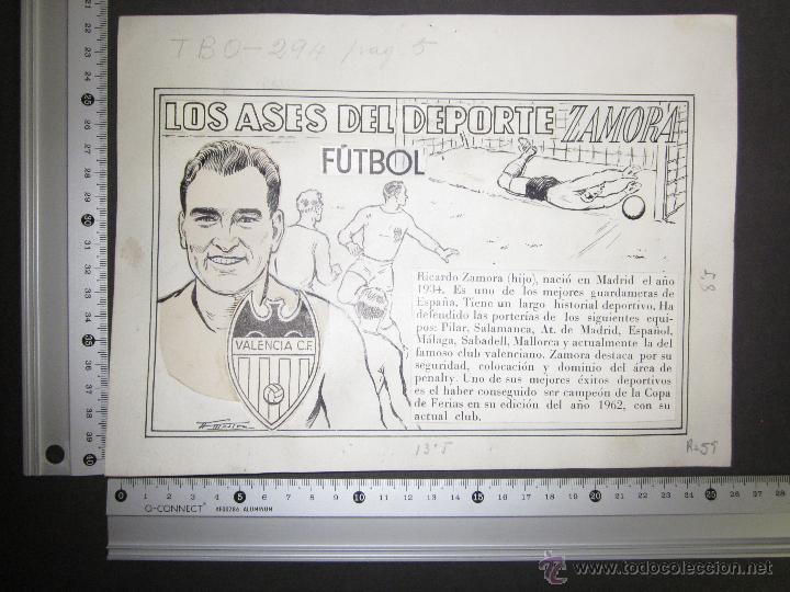 Coleccionismo deportivo: RICARDO ZAMORA HIJO -DIBUJO ORIGINAL AÑOS 60 CON REVERSO ILUMINADO COLOR- VER FOTOS TAMAÑO- (V-759) - Foto 11 - 43773038