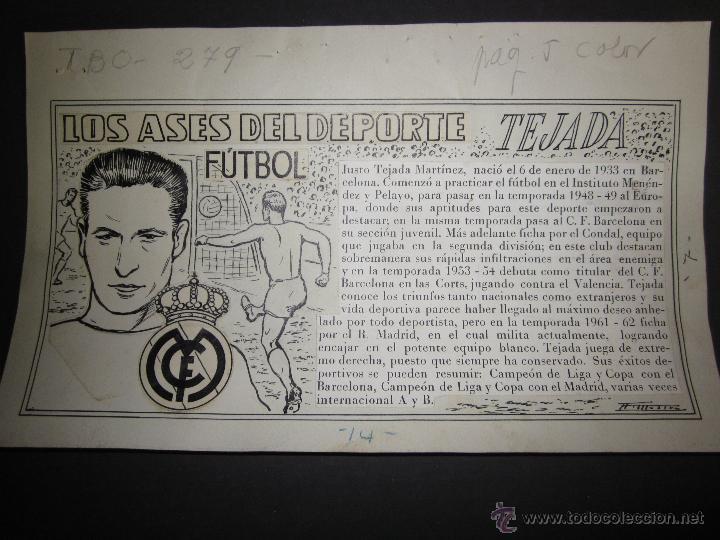 TEJADA - R. MADRID -DIBUJO ORIGINAL AÑOS 60 CON REVERSO ILUMINADO COLOR- VER FOTOS TAMAÑO- (V-760 (Coleccionismo Deportivo - Documentos de Deportes - Otros)