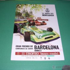 Coleccionismo deportivo: AUTOMOVILISMO - PROGRAMA 24 MARZO 1974 MONTJUICH GRAN PREMIO DE BARCELONA FORMULA 2 . Lote 43979618