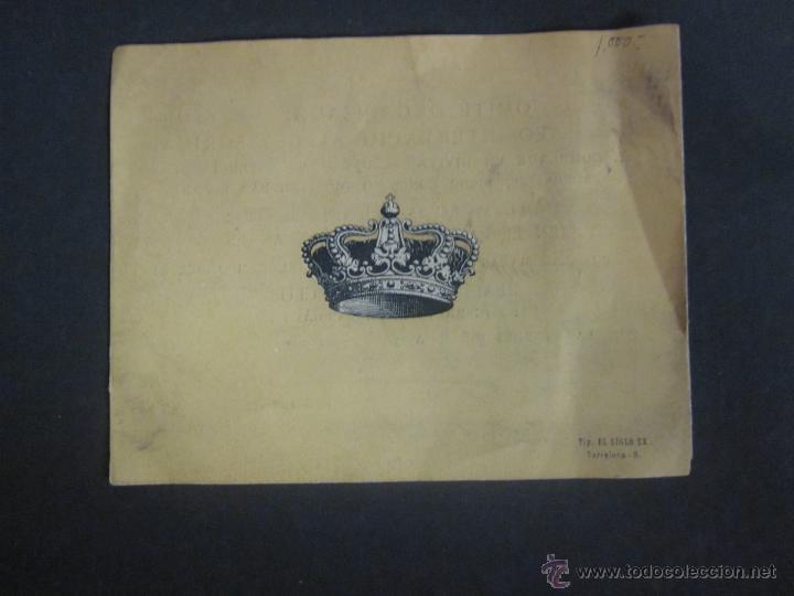 Coleccionismo deportivo: ESGRIMA - INVITACION TORNEO INTERNACIONAL AÑO 1914 A BENEFICIO HERIDOS GUERRA AFRICA-(V- 907) - Foto 4 - 44042129