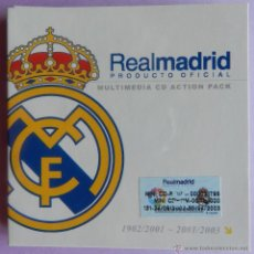 Coleccionismo deportivo: REAL MADRID - MULTIMEDIA CD ACTION PACK 1902 - 2003 - 2 CDS PRODUCTO OFICIAL - MINI CDROM. Lote 44368994