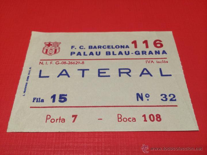 FC BARCELONA ENTRADA PALAU BLAUGRANA - 1980'S. (Coleccionismo Deportivo - Documentos de Deportes - Otros)