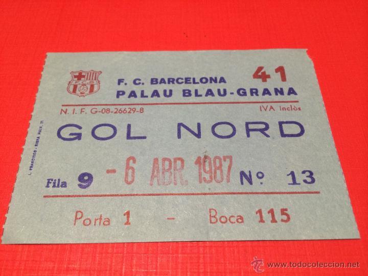 FC BARCELONA - REAL MADRID -SEMIFINAL LIGA ACB 1986-1987 -PALAU BLAUGRANA -ENTRADA BASKET BALONCESTO (Coleccionismo Deportivo - Documentos de Deportes - Otros)