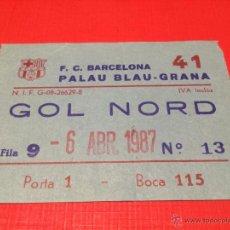 Coleccionismo deportivo: FC BARCELONA - REAL MADRID -SEMIFINAL LIGA ACB 1986-1987 -PALAU BLAUGRANA -ENTRADA BASKET BALONCESTO. Lote 44727615