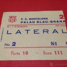 Coleccionismo deportivo: ENTRADA PALAU BLAUGRANA - FC BARCELONA 1970'S 1980'S.. Lote 44766031