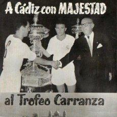 Coleccionismo deportivo: TROFEO CARRANZA 1962. Lote 44834618